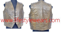 Fashion Vest Leather Club Vest Fetish Gothic Punk Bondage Vest
