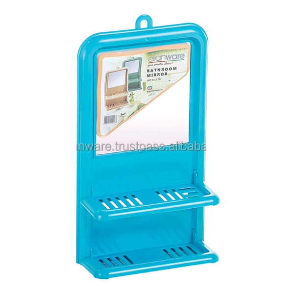 Plastic Bathroom Folding Mirror with Glass Shelf E-26