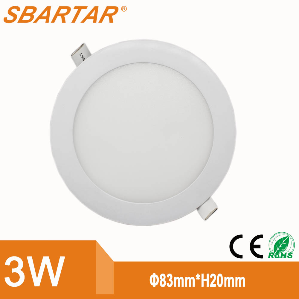 High quality 3W-24W LED light panel, Round Square led backlight panel