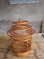 Eco friendly cheap price bamboo bird house, bamboo bird cage
