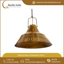 High Quality Aged Brass Industrial Pendant Light for Bulk Buyer