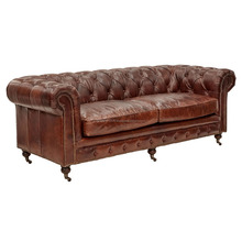 chesterfield sofa genuine leather_3_Seater leather sofa design
