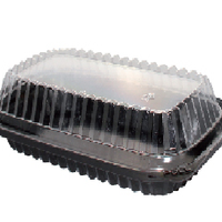 Disposable Shallow Container With Clear Lid