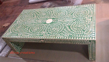 Indian furniture manufacturer camel bone inlaid coffee table