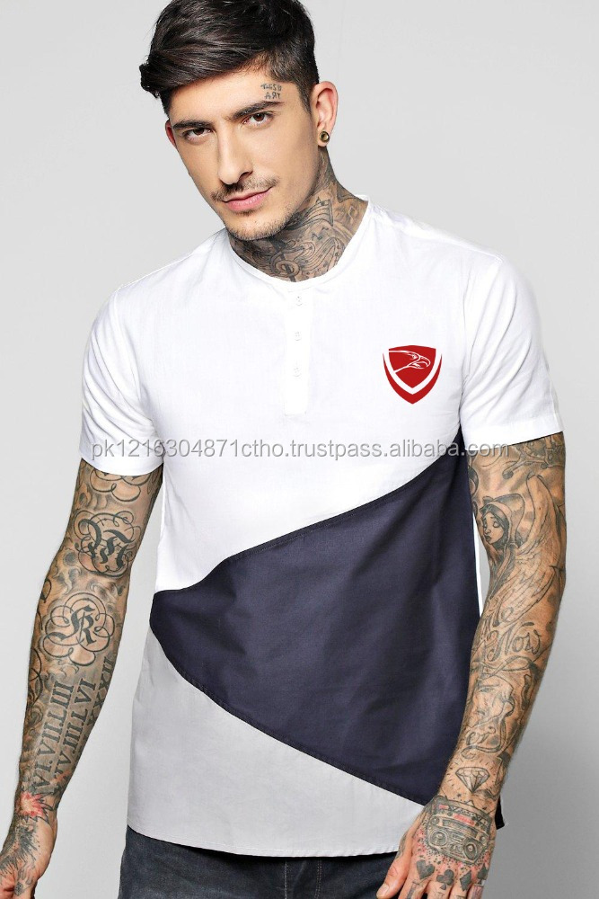 High Fashion Design Casual Custom Men's T shirt Longline T- Shirt by Hawk Eye Co.
