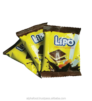 Lipo biscuit made from actual chocolate and cream - Tasty chocolate cracker bag 300g for Malaysia