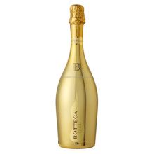 Italian plastic colored sparkling wine flute Bottega gold with clean fruity taste made in Japan