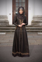 EXCLUSIVE Elegant Brown Bridal Abaya With Very Beautiful Hand embroidery On It Stone,Pearls,Crystal