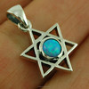 Small, Opal Star of David Sterling Silver Pendant, p402