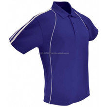 New designing fashion polo shirt with contrast piping & stripes