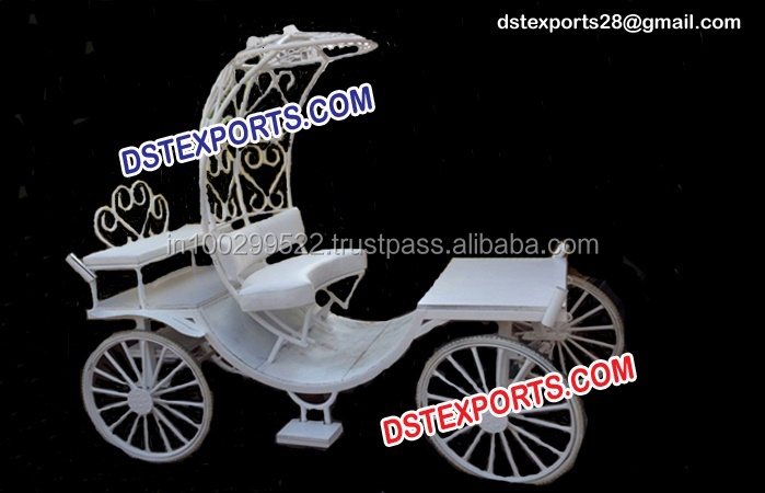 Cinderella Carriage Buggy/Wedding White Cinderella Horse Carriage/Mini Cinderella Wedding Carriage For Bride Groom