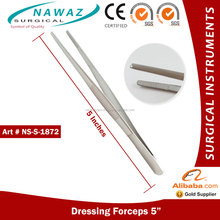 Surgical Dressing Forceps Standard Pattern 5 Inches