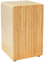 Cajon Primero Series Patented Base Port Adjustable String with Zebra Wood Face Plate. CJ BSP