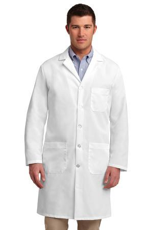 Red Kap Lab Coat - 80/20 poly & combed cotton, has left chest patch pocket, 2 lower pockets and comes with your logo