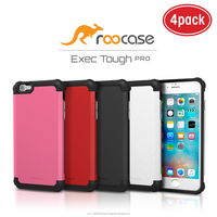 2016 Top Quality rooCASE Exec Tough PRO Bumper TPU PC Armor case for iPhone 6 6s 4.7 inch (4 color pack) Whole sale