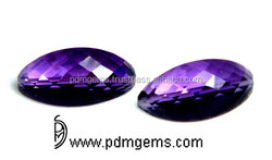 Natural Amethyst Watermelon Slice Shape Faceted Wholesale Gemstone Suppliers