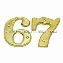 brass numbers for front door
