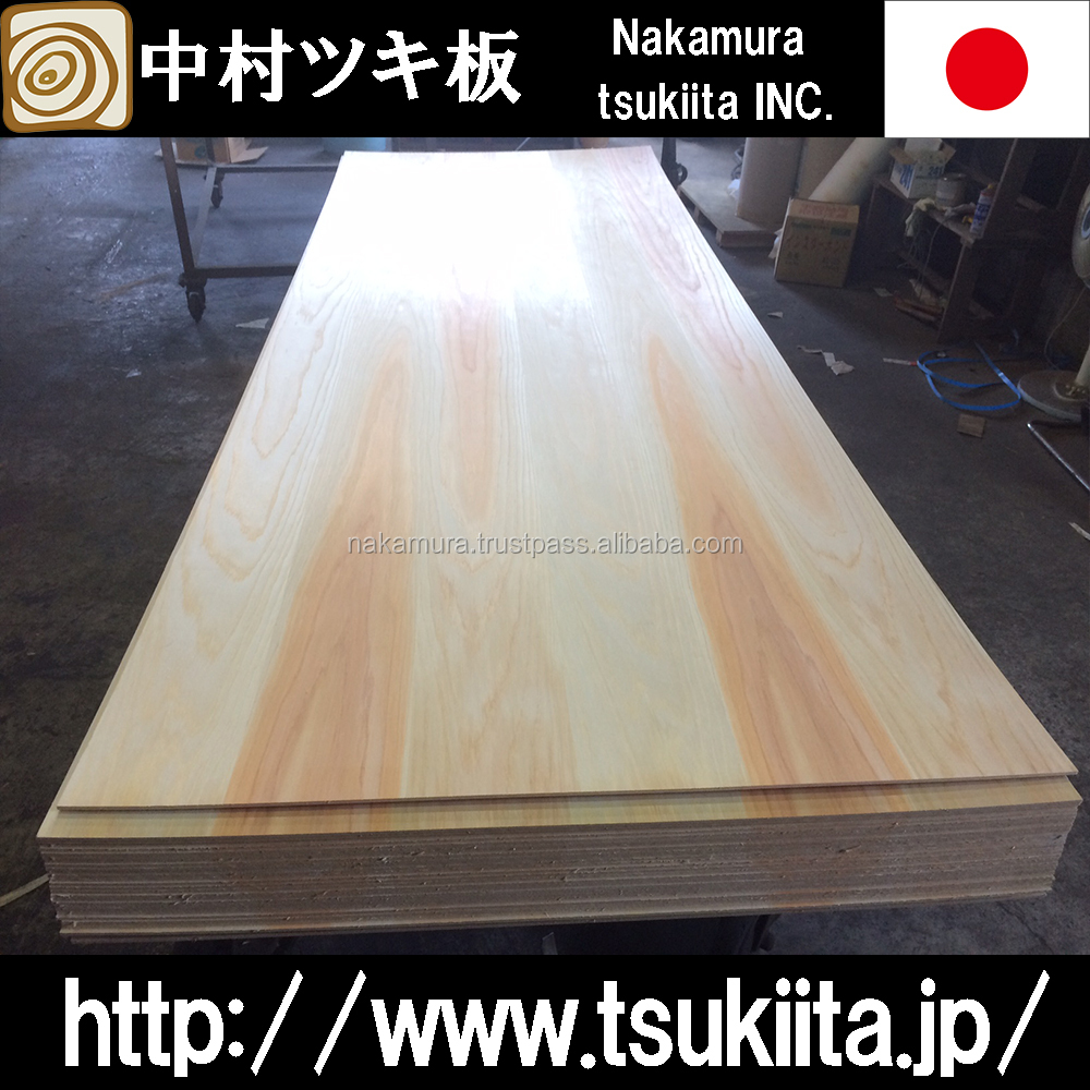 Luxury and Beautiful veneer sheets Japanese cedar with super low formaldehyde emission made in Japan