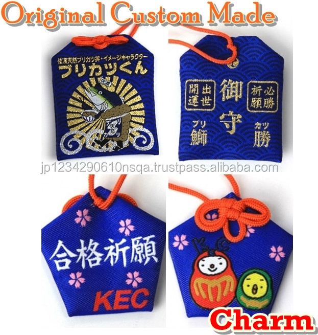 Colorful Japanese custom omamori with original designs for novelty gifts