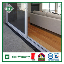 Interior sliding door for living room, white powder coated aluminum frame, clear glas