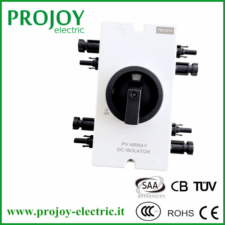 IP66 PV Isolator with MC4 connectors