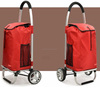 PLASTIC FOLDING SHOPPING TROLLEY BAG(2 WHEELS)