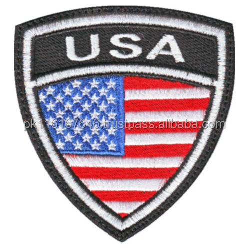 MACHINEREY USA CREST FLAG EMBROIDERED PATCH