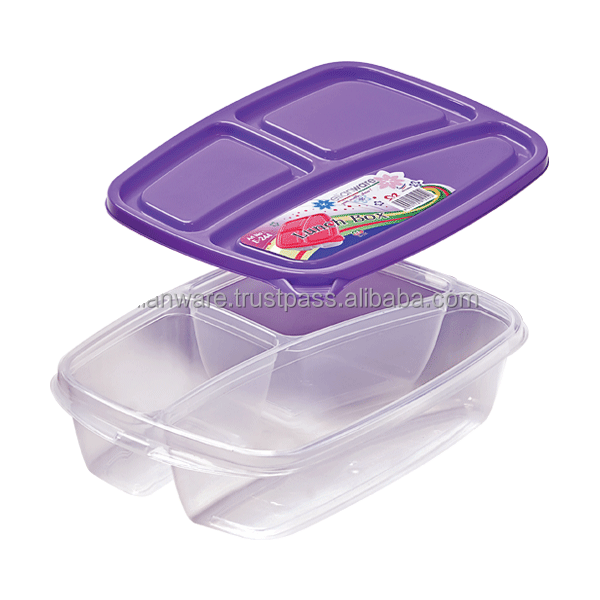 Plastic Disposable Lunch Box with Box E-244