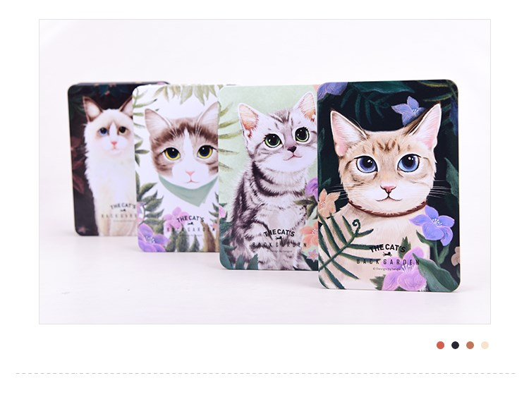 2016 new design Languo style cartoon cat design metal cover diary notebook LG-8895