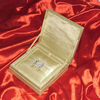 Luxury silk Wedding invitation card box with invitation pad and inside sweet box