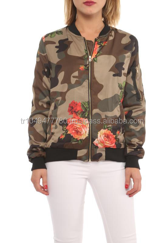 new arrival wholesale women coats for autumn with military prints