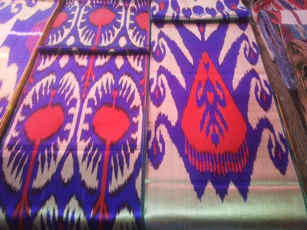 IKAT -Uz Adras Silk and Cotton fabric