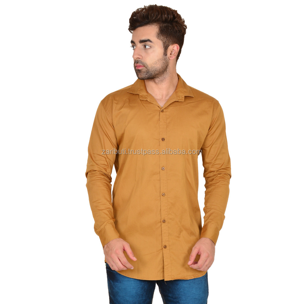 Dark Beige Men's 100% Linen Club Casual Shirts Party Wear Shirts Office Wear Shirts
