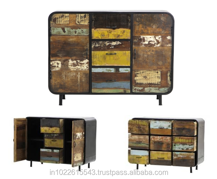 reclaimed wood tv unit industrial furniture