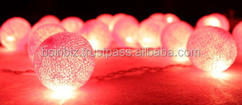 Pastel Cotton Balls String Lights/Fairy Handmade For Home Decoration/Lighting, Holiday, Party, Wedding, Christmas/Xmas, Gift