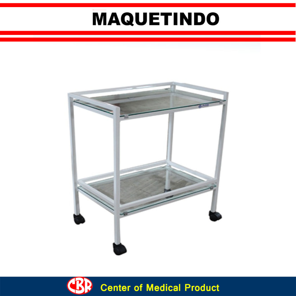 Hospital Instrument Trolley with Two Racks