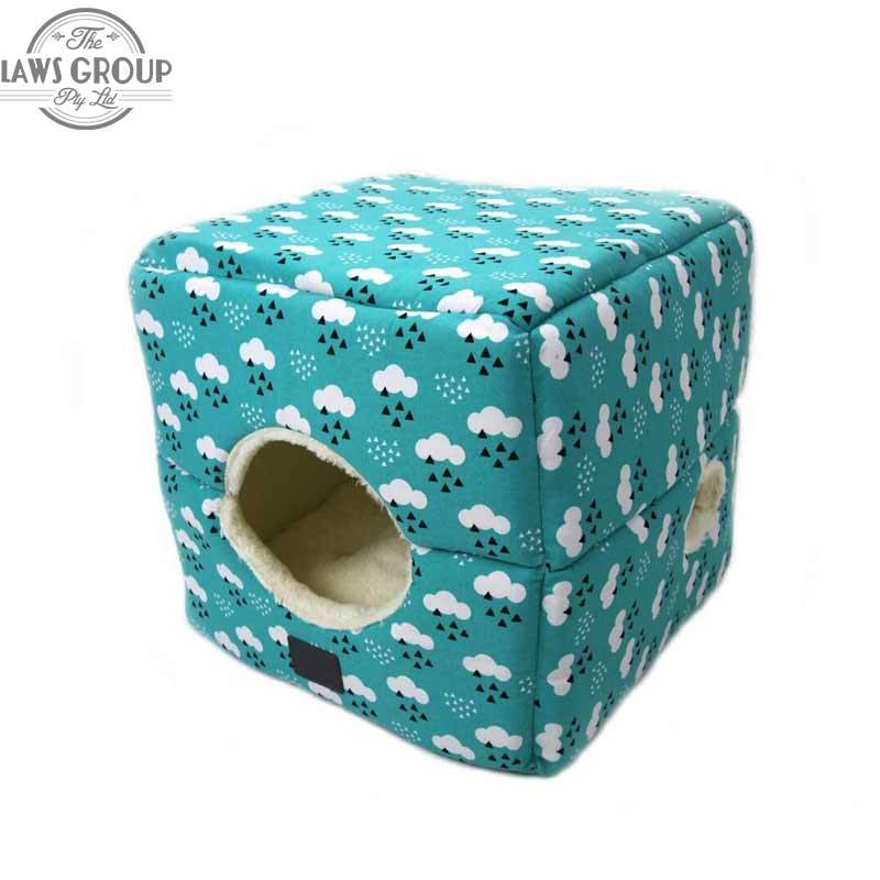 T&S Pet Products Quirky Cloud Cat Bed Square