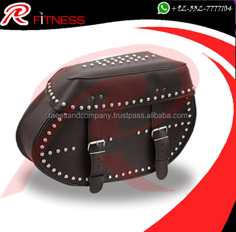 RC leather saddle bag - Black Motorcycle Panniers Saddle Bags Tour Faux Leather Motorbike Luggage