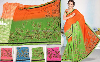 Shivani -1 weightless border attached banglori saree