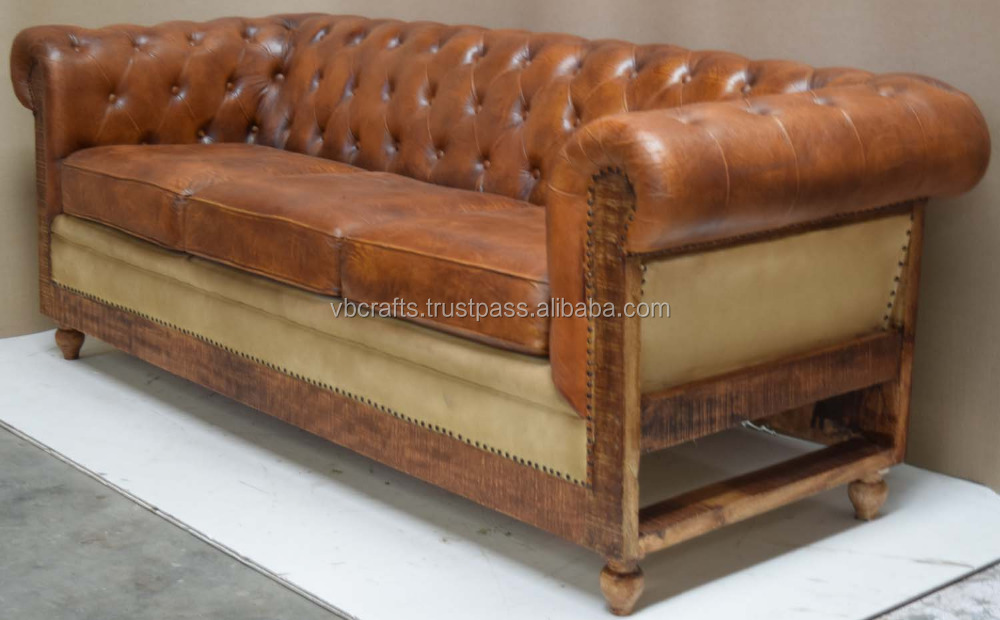 Superb Vintage Leather Sofa Wooden Leg   Buy Wooden Sofa Legs,Latest Leather Sofa,Vintage  Soft Couch Sofa Product On Alibaba.com