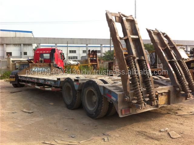used low bed trailer, Heavy duty 3 axle low bed trailer lowbed semi trailer for sale