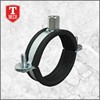 Zinc galvanized pipe clamp iron steel rubber lined split clamp