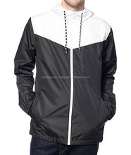 high quality custom made nylon/polyester men wind proof, water proof, rain jacket wind breaker jacket