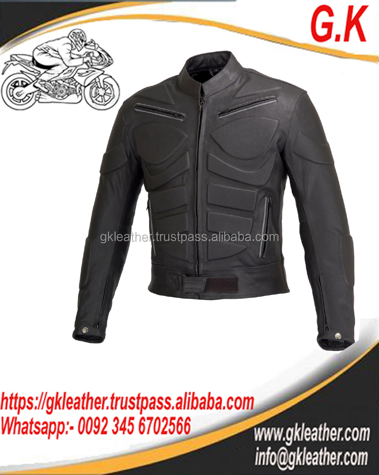 Leather Motorbike Jacket/Motorcycle Leather Jacket/Cowhide Leather Top Quality Jacket