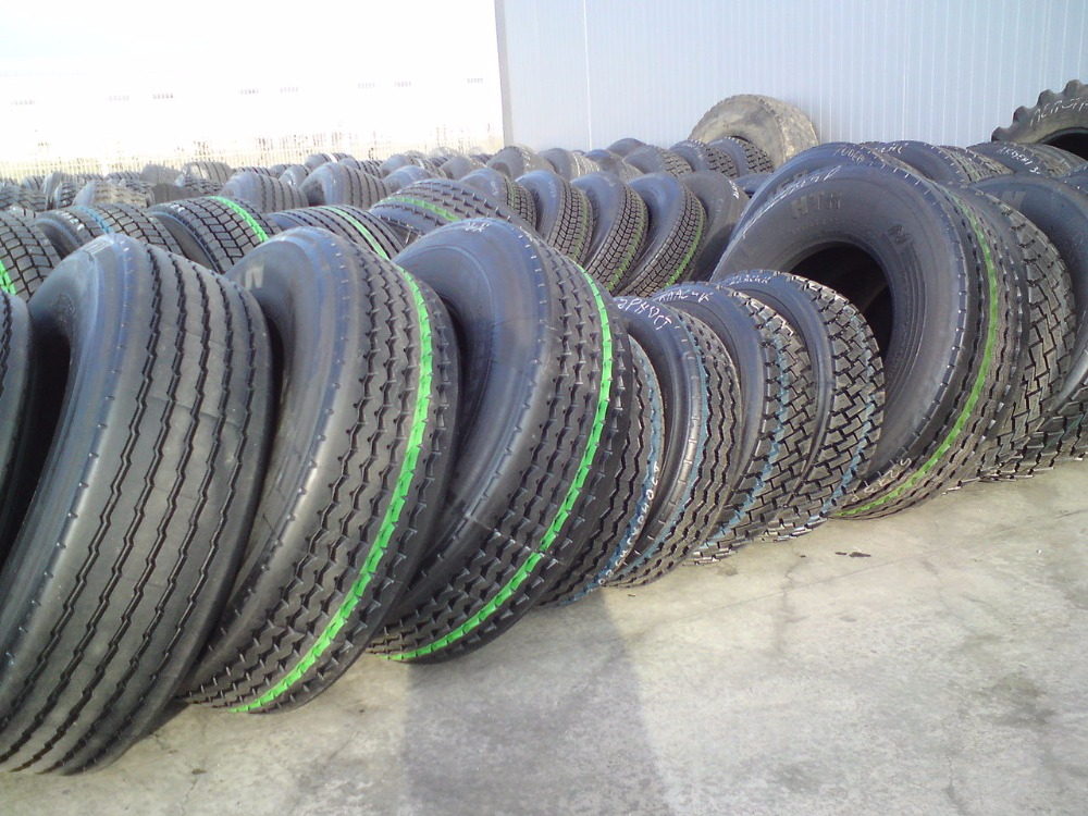 Used car and truck tyres