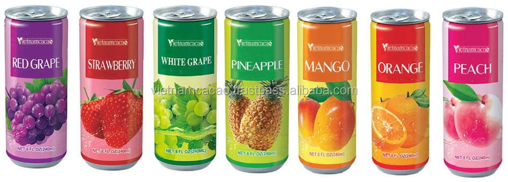 Canned Fruit Juice Soft Drink - Viber/Whatsapp: 0084905209103