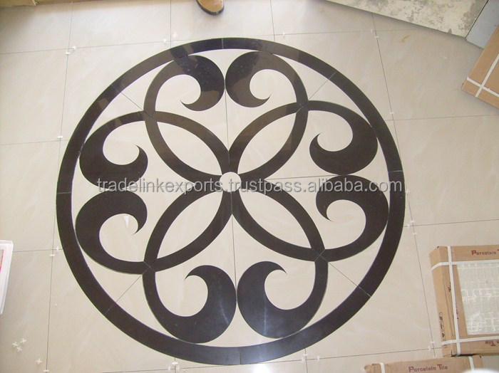 Marble Floor Pattern rangoli design marble inlay flooring stone inlaid art work