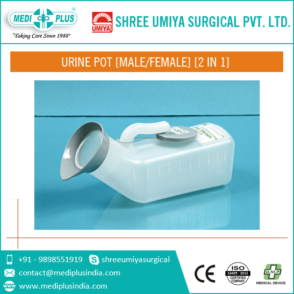 Odourless Superior Quality Urine Pot for Female and Male