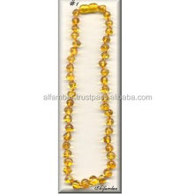 Baby Teething Honey Coloral Baltic Amber Beads Necklace