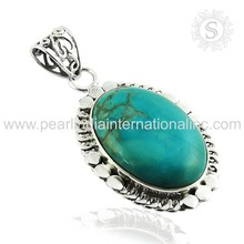 Alluring arizona Turquoise Wholesaler Silver Jewellery Pendant Gemstone Silver Jewelry 925 Sterling